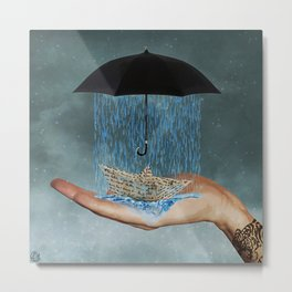 downpour Metal Print