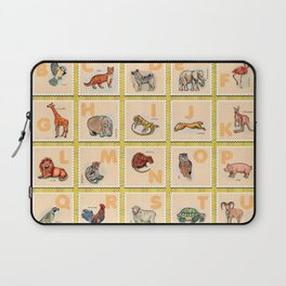 hand drawn animals poster for all English letters Laptop Sleeve
