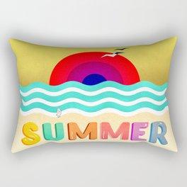 037 HOT SUMMER on the beach Rectangular Pillow