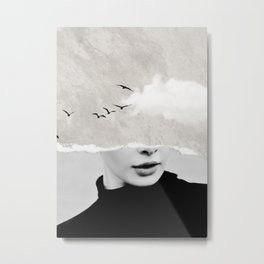 minimal collage /silence Metal Print