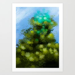 At the top of the tree (In cima all'albero) Art Print