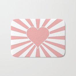 Blush Pink Valentine Sweetheart Love Explosion Bath Mat