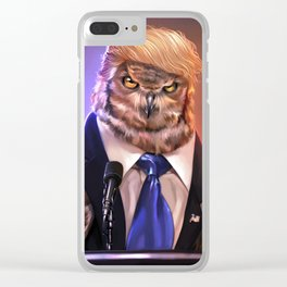 Election 2016 - Donowl Trump Clear iPhone Case