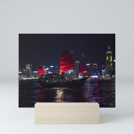 Sampan of Hong Kong Mini Art Print