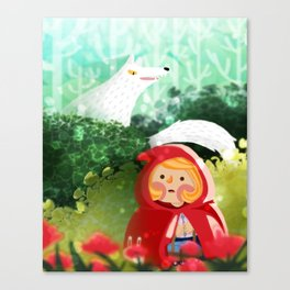 Hello Little Red Riding Hood Canvas Print