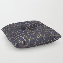 Modern Gold Navy Blue Floor Pillow