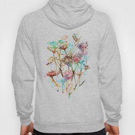 Queen Anne Lace Wild Flower Print Hoody