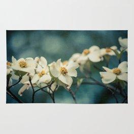 Spring Botanical -- White Dogwood Branch in Flower Rug