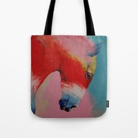 horse Tote Bags featuring Horse by Michael Creese