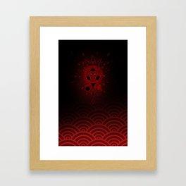 SamGen Logo - Black Framed Art Print