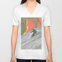 rasta V-neck T-shirts featuring Rasta Corner by Calepotts
