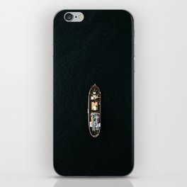 Iceland Ship from Above - Ocean Photography iPhone Skin