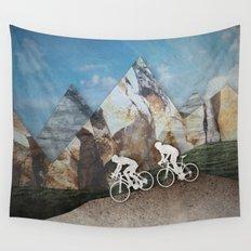 Mountain Biking Wall Tapestry
