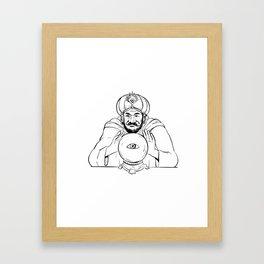 Fortune Teller Crystal Ball Drawing Framed Art Print