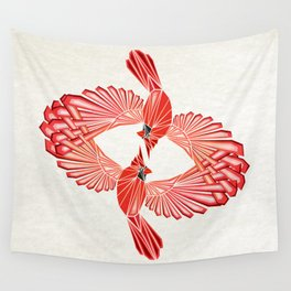 red cardinal Wall Tapestry