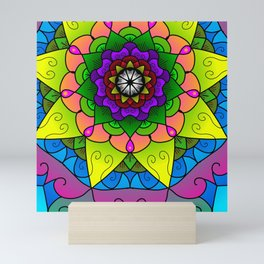Cheerful mandala Mini Art Print