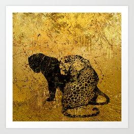 Gold Safari Art Print