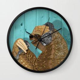 Sloth Song Wall Clock