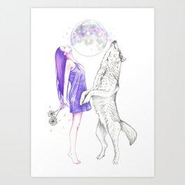 Moon Dance Art Print
