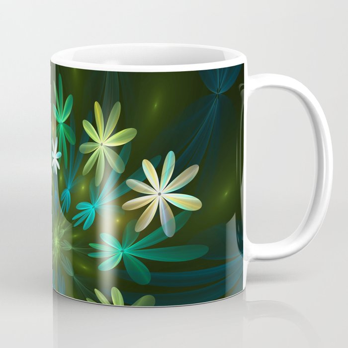 Fantasy Flowers, Fractal Art Coffee Mug
