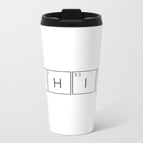 WHITe Chemical Formula Metal Travel Mug