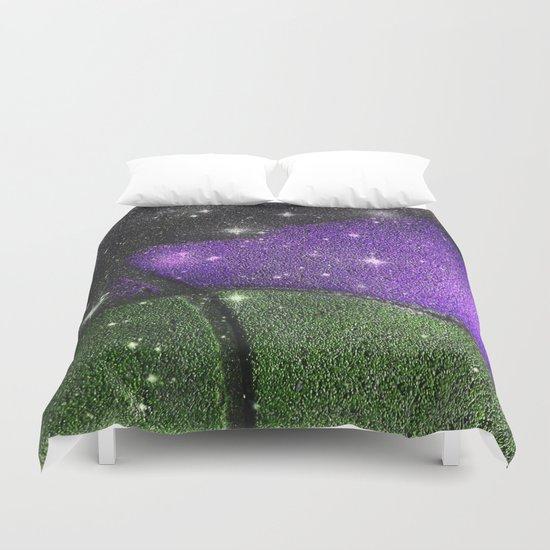 Purple Starry Eyed Dog Duvet Cover