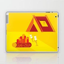 Camping in Yellow Laptop & iPad Skin
