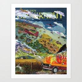 Child's Introduction/Car Fire Art Print