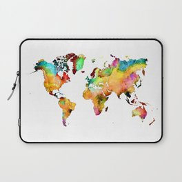 world map 71 Laptop Sleeve