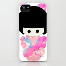 Butterfly Kokeshi iPhone Case