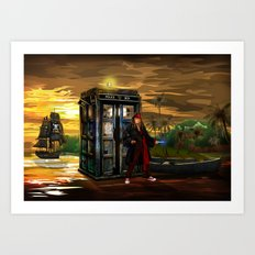 10th Doctor who Lost in the pirates age iPhone 4 4s 5 5s 5c, ipod, ipad, pillow case and tshirt Art Print