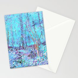 Van Gogh Trees & Underwood Aqua Lavender Stationery Cards