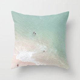 Summer Fun - Beach Football Throw Pillow