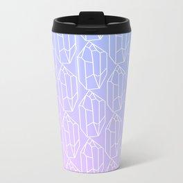 Crystal Pattern Metal Travel Mug