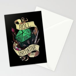 Roll Initiative Stationery Cards