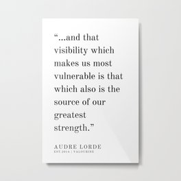12  | Audre Lorde |Audre Lorde Quotes | 200621 | Black Excellence Metal Print