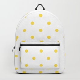 Polka Dots Pattern: Yellow Backpack