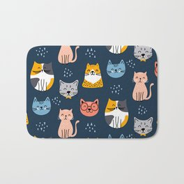 cute seamless cats pattern Bath Mat