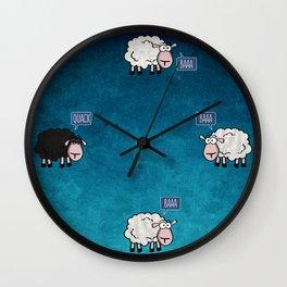 Bored Sheep Wall Clock