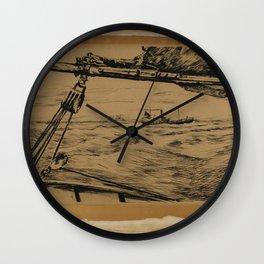 Johan Hendrik Weissenbruch - Landschap met koeien bij een vijver Wall Clock