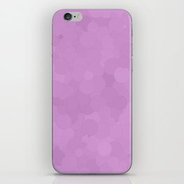 Violet Tulle Bubble Dot Color Accent iPhone Skin