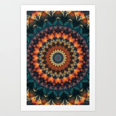 Fundamental Spiral Mandala Art Print