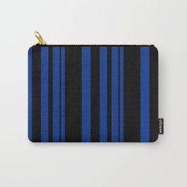 Black and blue striped . Carry-All Pouch