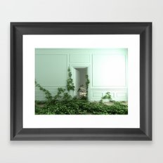 Creeping ivory Framed Art Print