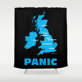 Panic Shower Curtain