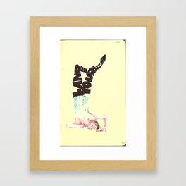 Land On Your Ass Framed Art Print