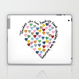 Hearts Heart Teacher Laptop & iPad Skin