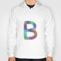 letter Hoodies featuring Letter B by David Zydd