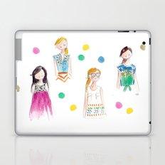 Mermaid girl beach towel Laptop & iPad Skin