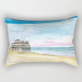Outer Banks House At the Sea Rectangular Pillow
